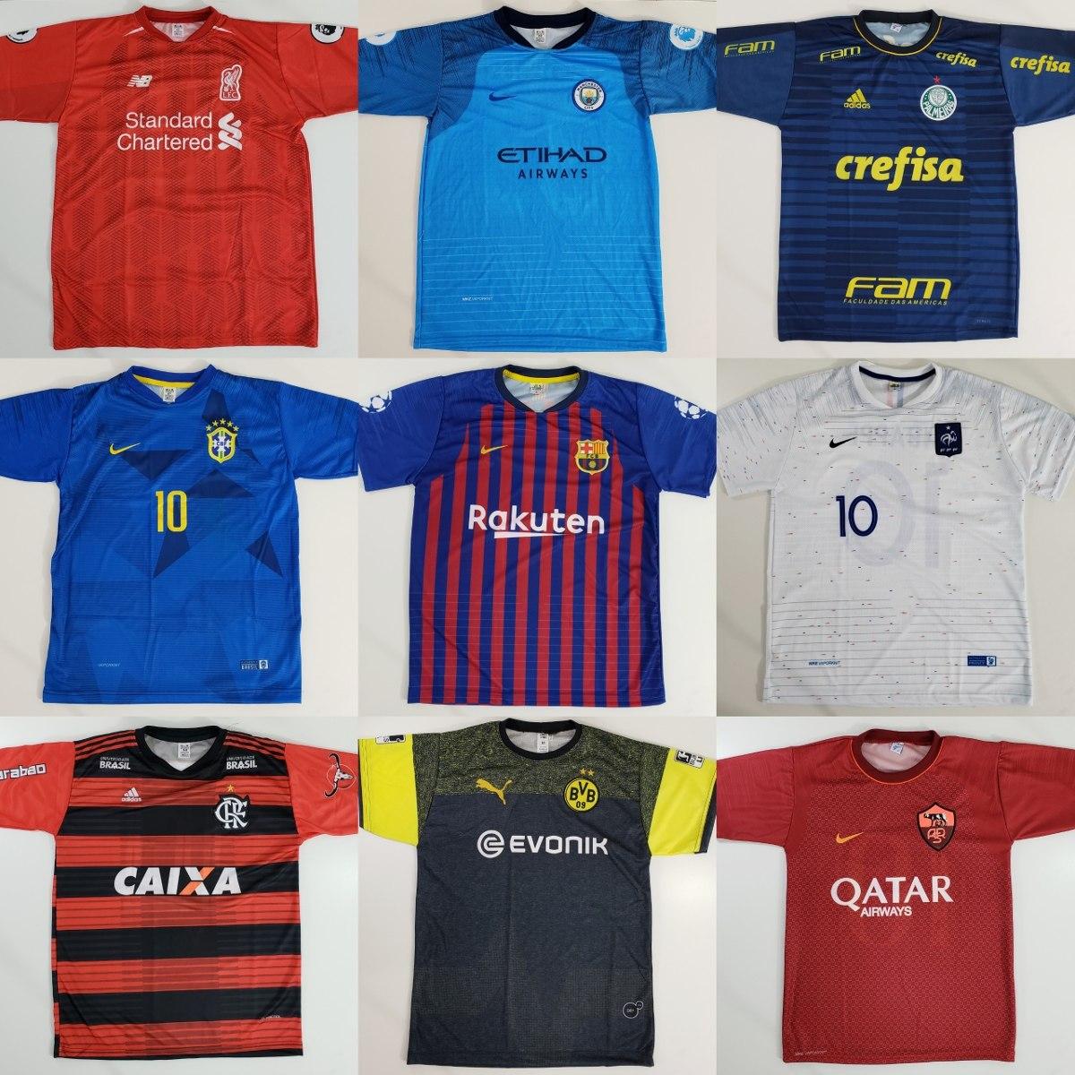 10 camisetas de time atacado camisas de futebol raynstore r 189
