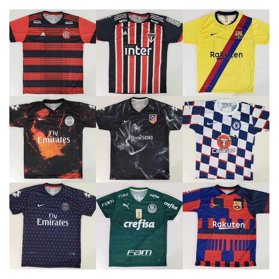 10 Camisetas De Time Atacado Futebol 100 Modelos Raynstore® - R  189 ... f1ed4ff227f2b