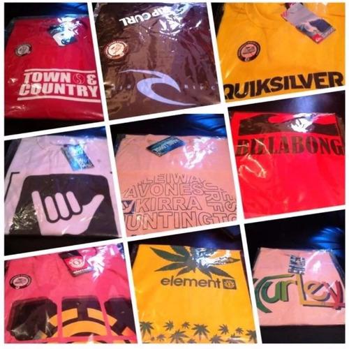 10 camisetas de varias marcas envio rápido camisas