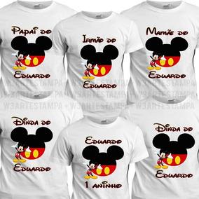 ea72b5de7cc0 Kit Camisetas Familia Mickey no Mercado Livre Brasil