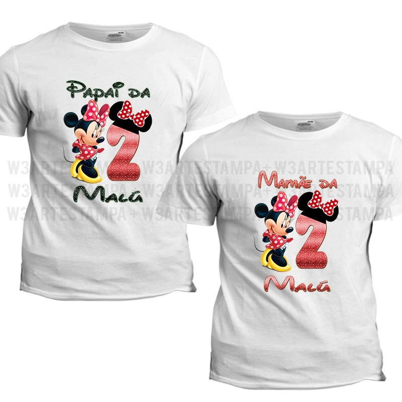 10 camisetas minnie aniversario disney vermelha rosa festa. Carregando zoom. 7063880905db2