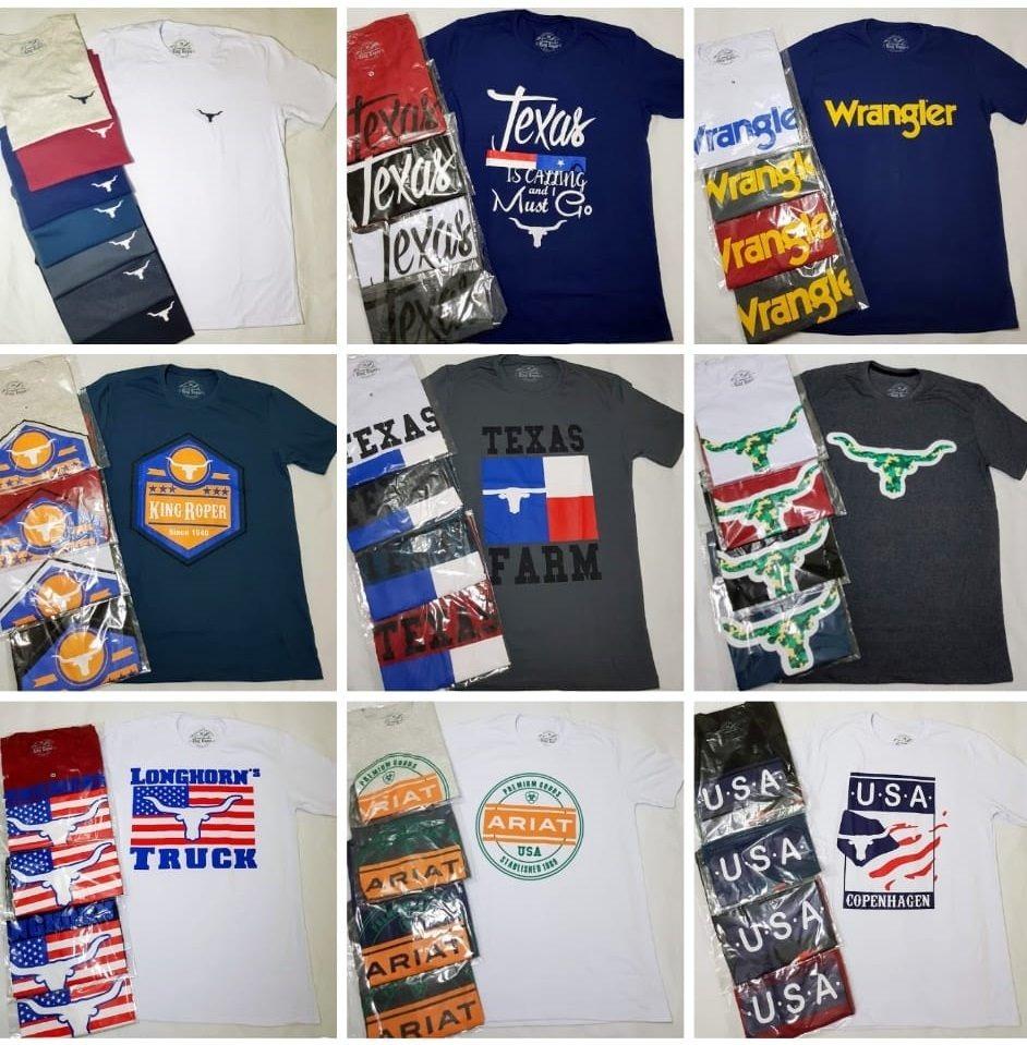 d6b04090628a8 10 camisetas polo country no atacado tuff long horn 2k txc. Carregando zoom.