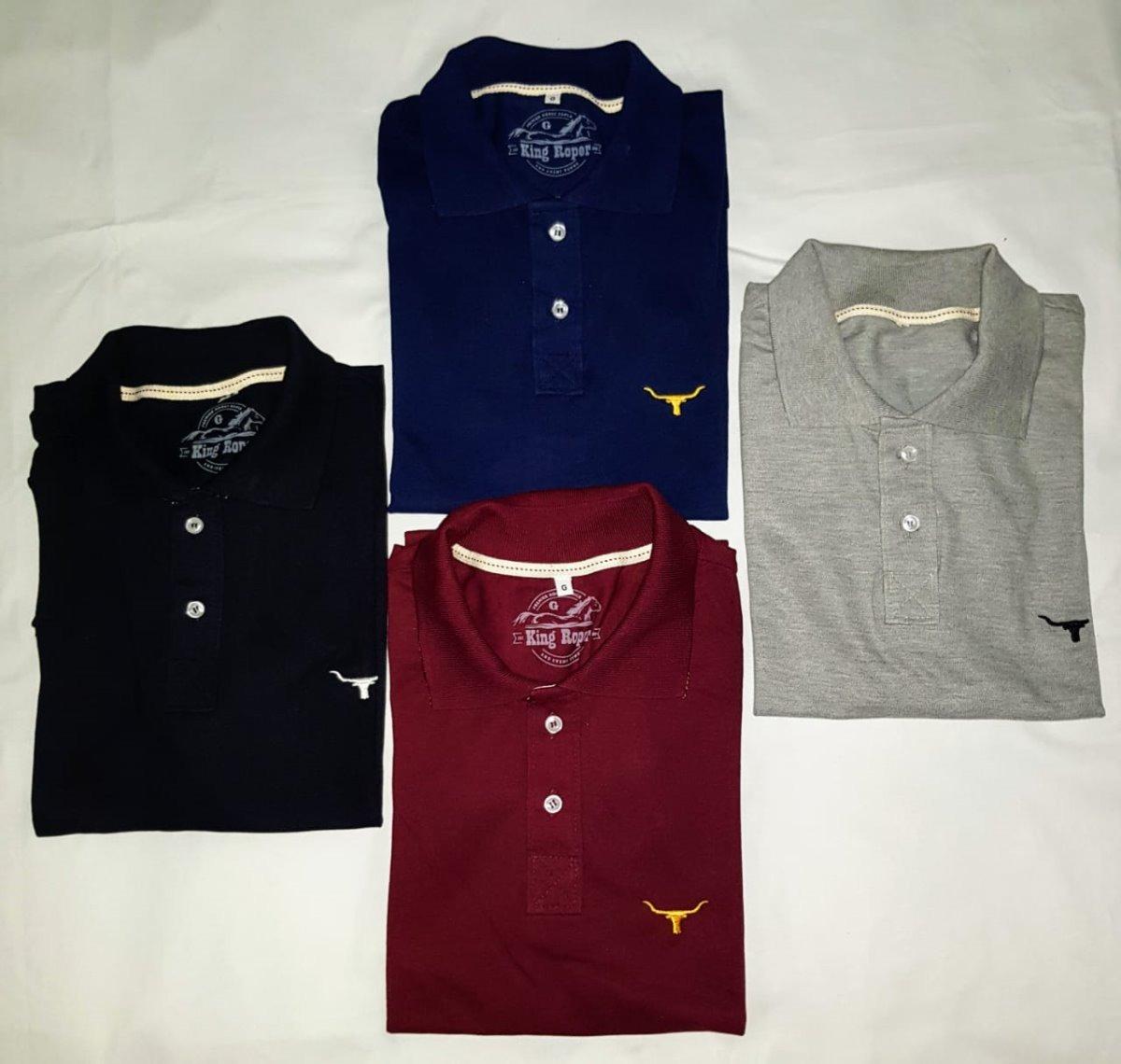 10 Camisetas Polo Country No Atacado Tuff Long Horn 2k Txc - R  350 ... 6ed57311e17