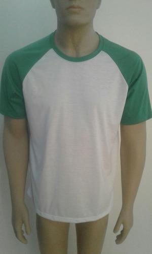 10 camisetas raglan 100% poliester para sublimação atacado