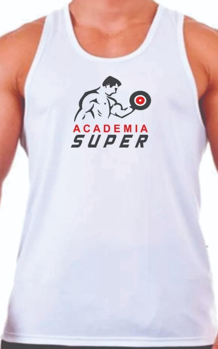 1ff017733c 10 camisetas regatas branca dry fit personalizada. Carregando zoom.