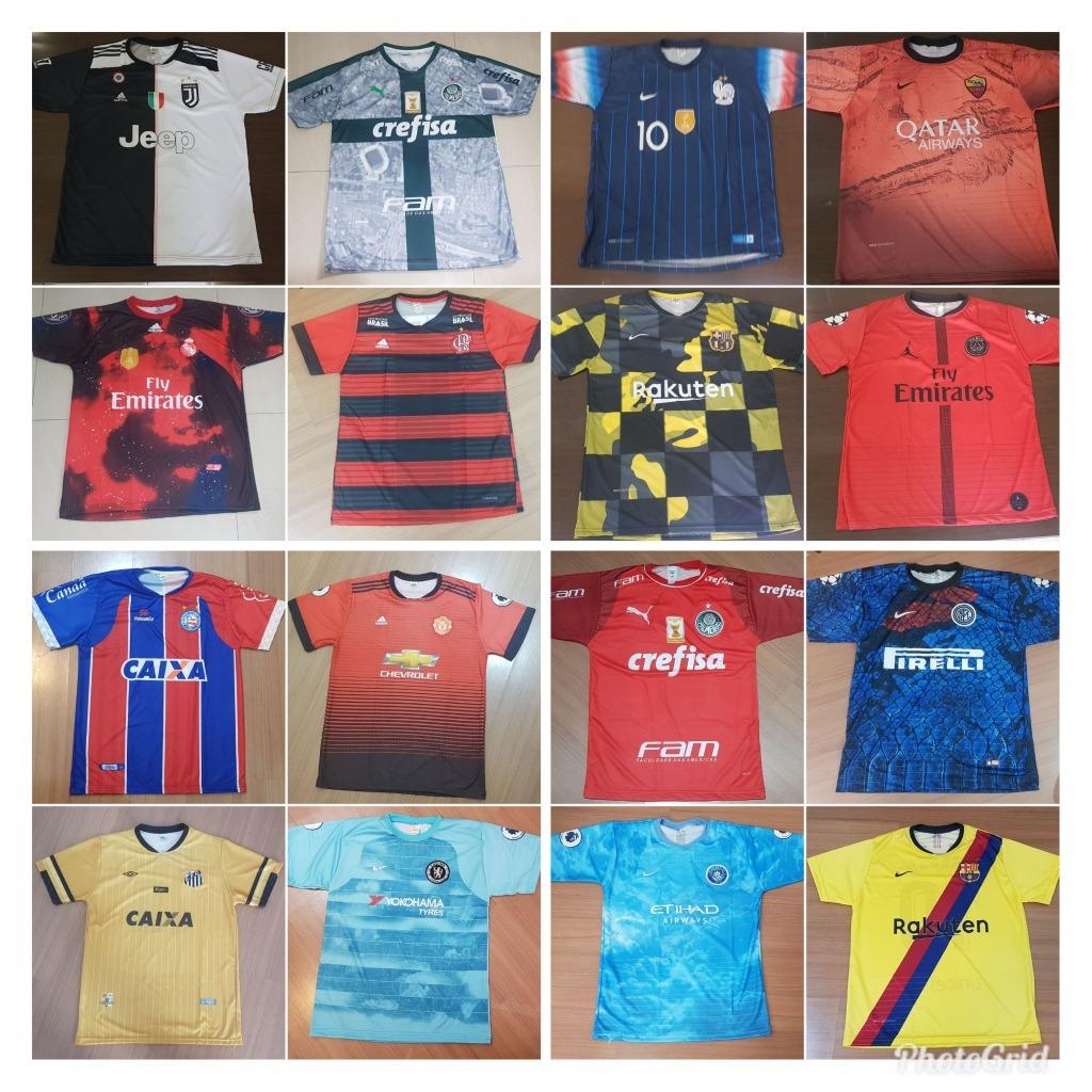 0bff962bb97a1 10 Camisetas Time De Futebol - Nacionais   Europeus - R  184