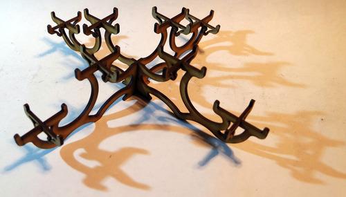 10 candelabro centro de mesa madera adorno decoración vela