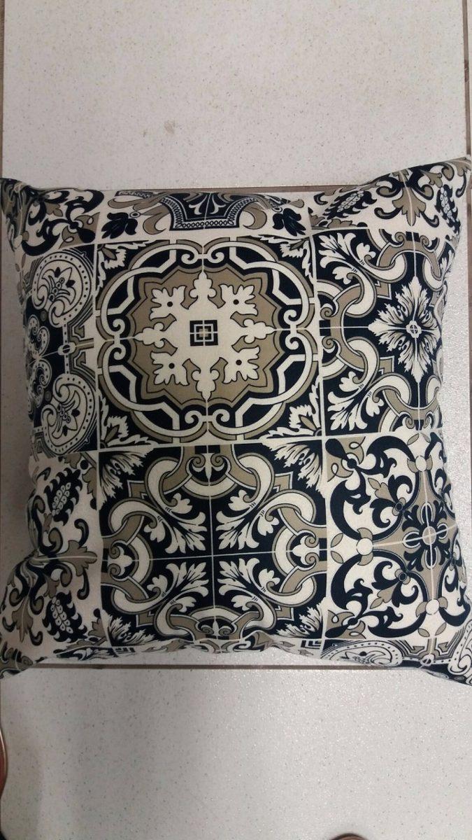 7eeacdb1863c42 10 Capas Almofadas Azulejo Portugues-azul Com Enchimento