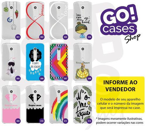 10 capinhas cases gocase para moto g3 por r$120,00