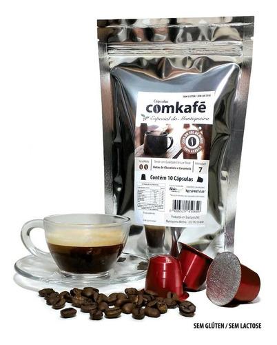 10 cápsulas café notas chocolate e caramel maquinanespresso