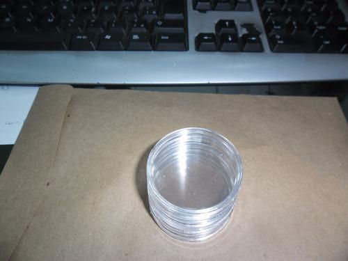 10 capsulas de acrilico p/ moedas - 27 mm - 10 unidades