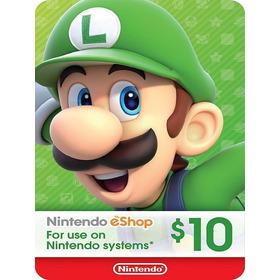 $10 Card Nintendo E-shop - 3ds Wiiu Switch [ Digital Code ]