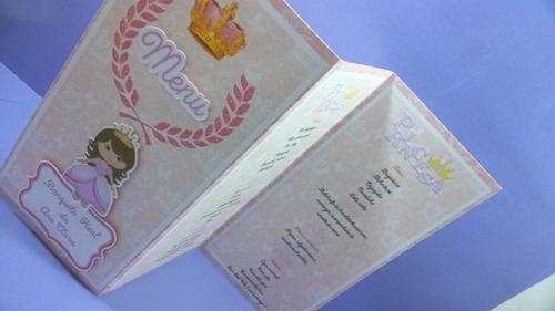 10 cardapio personalizado festa infantil princesa