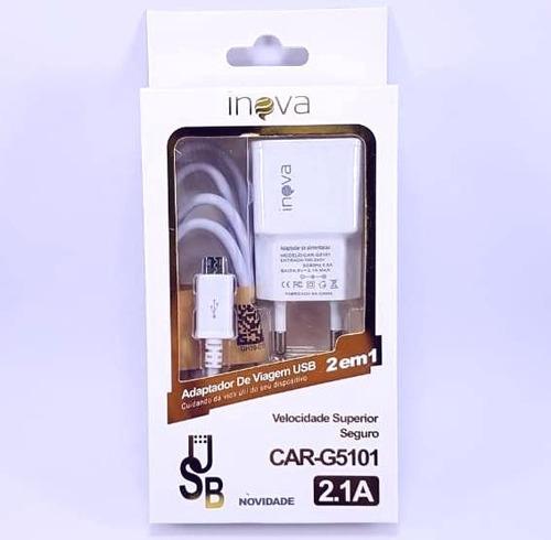 10 carregador inova v8 original g5101 2.1a atacado promoção