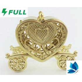 10 Carruagem Douradas Em Plástico Da Cinderela P