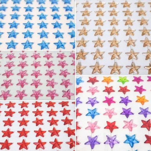 10 cartela adesivo strass pérola decoração artesanato estrel