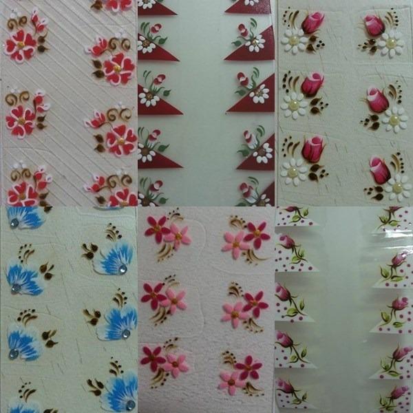 Artesanato Quilling ~ 10 Cartela De Adesivo 100% Artesanal De Unhas 15mil Modelos R$ 13,90 em Mercado Livre