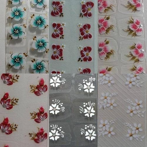 10 cartela de adesivo 100% artesanal de unhas - artesanais