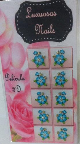 10 cartelas adesivos impressos 3d /falsa artesanal