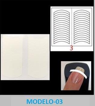 10 cartelas d adesivos p/ você mesmo fazer francesinha x1286