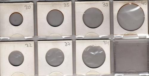 10 cartoncitos para guardar monedas 7 modelos a elegir