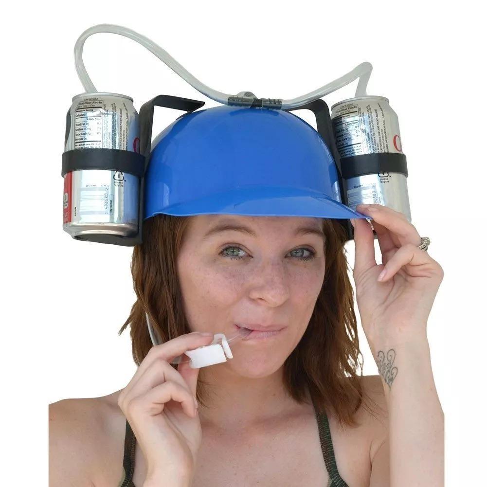 b9abeb555a411 10 casco gorra porta latas cerveza refresco bebidas fiesta. Cargando zoom.