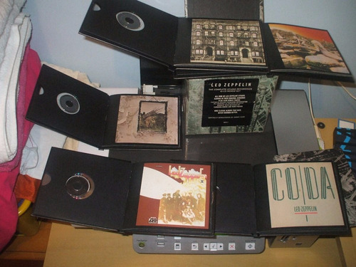 10 cd led zeppelin caja complete studio recordings cd1976