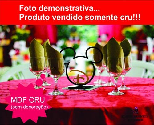 10 centro de mesa mickey com nome mdf 3mm fonte disney festa