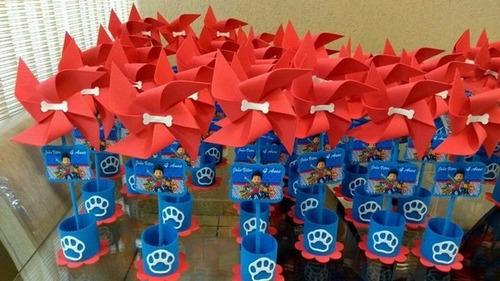10 centro de mesa patrulha canina  festa de menino ou menia