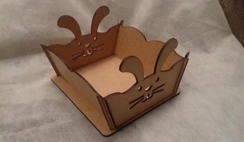 10 cesta bandeja páscoa coelho porta ovos mdf lembrancinha