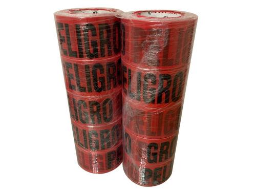 10 cintas delimitadoras rojas de peligro de 300 mts