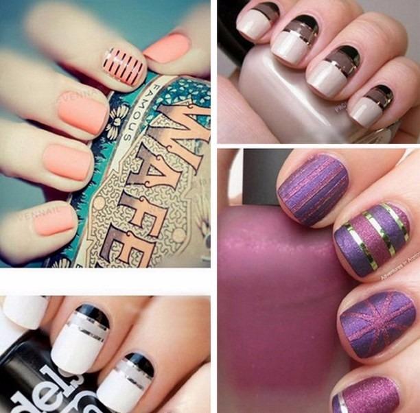 10 Cintas Nail Art- Decoración De Uñas-acrilicas-gelificadas - $ 85 ...