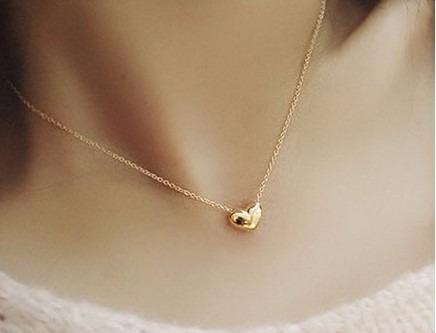 10 colares coração delicado super lindo folheado ouro 18k