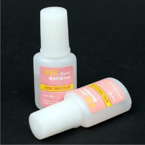 10 colas 10g unha postiça tip gel acrigel fibra porcelana