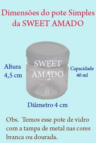 10 colheres + 10 potes simples de vidro p/ brigadeiro e doce