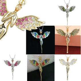 b99ec3caca2f Collar Alas De Angel Rosas - Collares y Cadenas Oro en Mercado Libre México