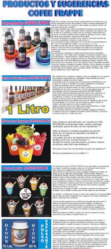 10 concentrados de 120ml. usados para alimentos y bebidas