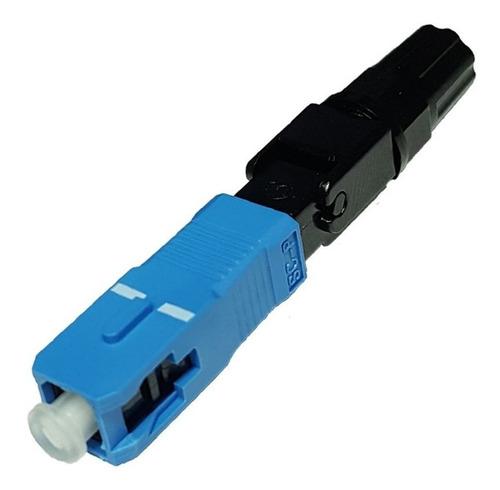 10 conector óptico sc sm azul fast pré polido fast connector