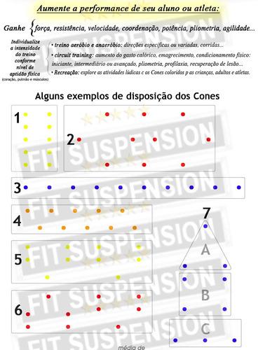 10 cones de pvc amarelo vivo demarcatórios de 18cm - liveup