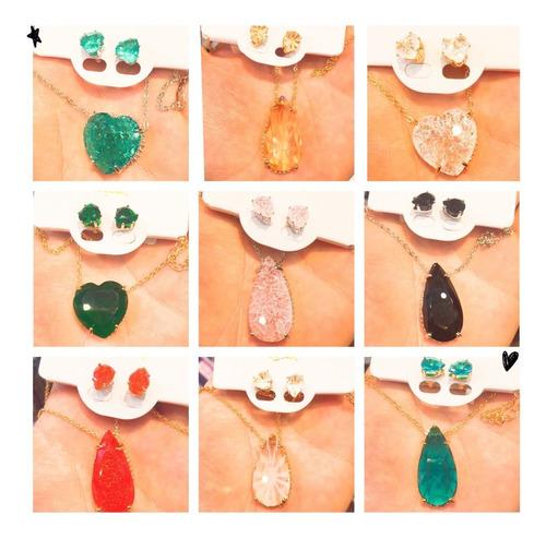 10 conjunto colar + brinco feminino  revenda atacado top