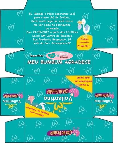 10 convite caixa ou lembrança personalizado