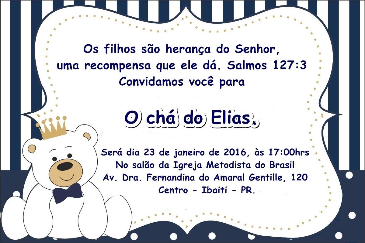 Mensagem De Apresentação De Bebe Na Igreja: 10 Convites Com Envelope E Selo Personalizados Chá De Bebê