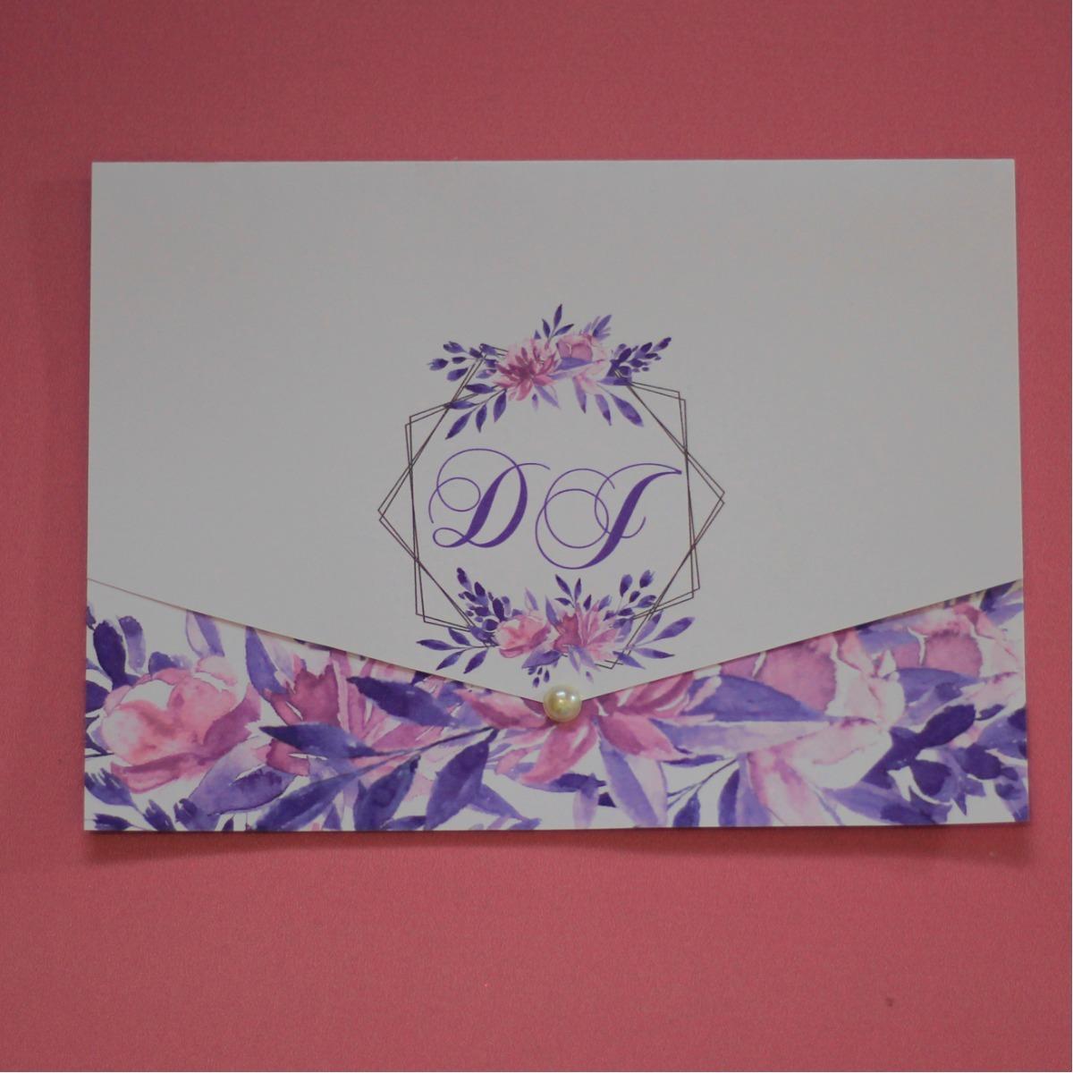 10 Convites De 15 Anos Casamento Flores Florido Barato Lindo R 17