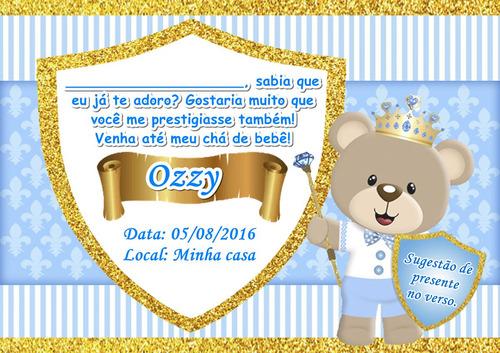 10 convites personalizados chá de bebê ou fraldas