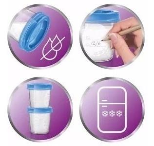 10 copos armazenamento de leite materno avent 100%original