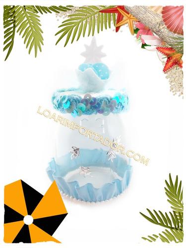 10 copos de nieve acrilicos estrellas candy hadas tarjetas