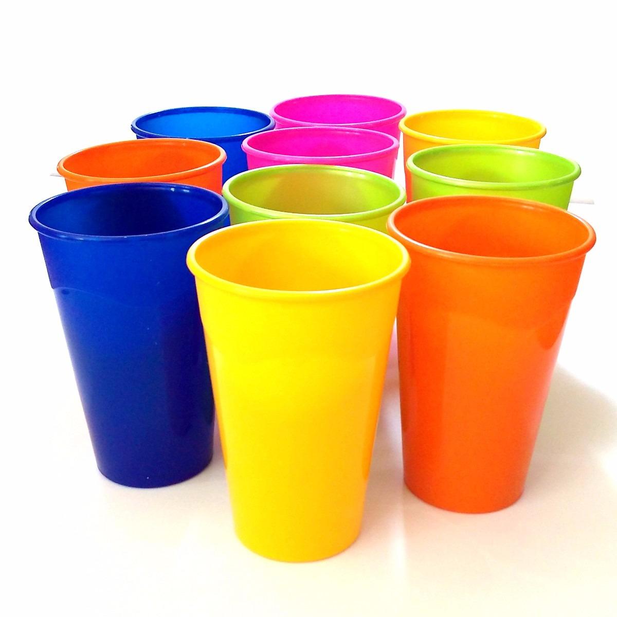 10 copos pl sticos coloridos festa grande lav vel de 300ml for Piscina plastico duro