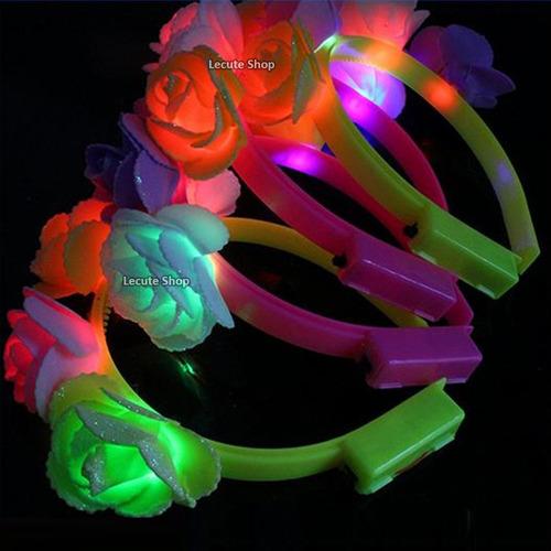 10 coronas diademas flores luminosas led princesa tiara