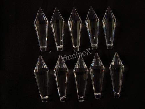 10 cristais asfour pirulito 38mm  para lustres de cristal