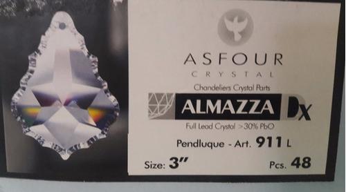 10 cristais asfour placa bacalhau 7,6 cm para lustres